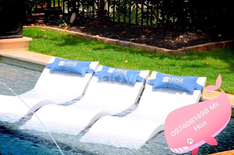 Ghế bể bơi fiberglass, ghế tắm nắng ngoài trời composite (ảnh 4)