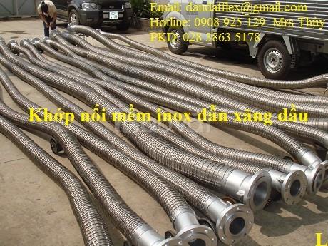 Khớp nối mềm inox áp lực cao, khớp nối chống rung inox, ống chống rung
