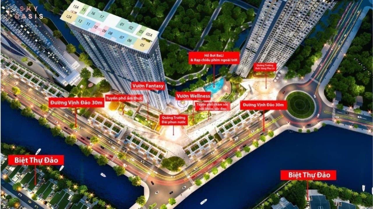 Căn hộ một phòng ngủ, ban công Đông Nam tòa S3 Sky Oasis Ecopark