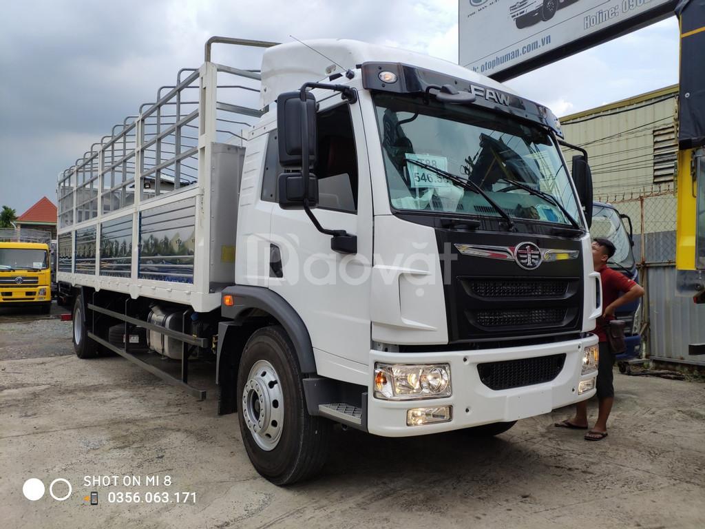 Bán xe tải Faw 8 tấn thùng dài chở hàng cồng kềnh bán trả góp 30% (ảnh 1)