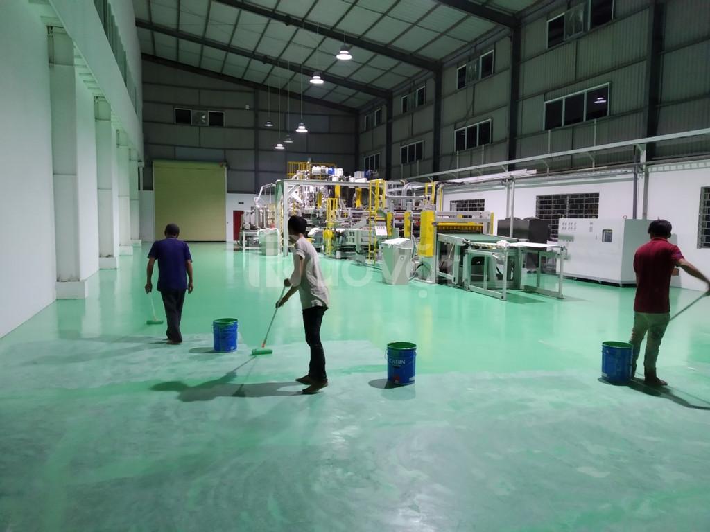 Chuyên thi công sơn Epoxy sàn nhà xưởng ở bình thuận giá rẻ