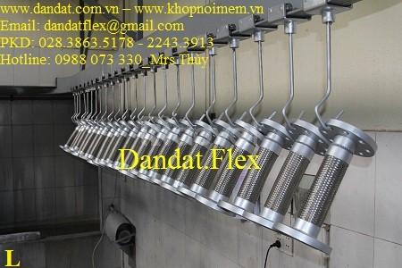 Khớp nối giảm chấn inox, khớp nối mềm chống rung inox chịu nhiệt cao