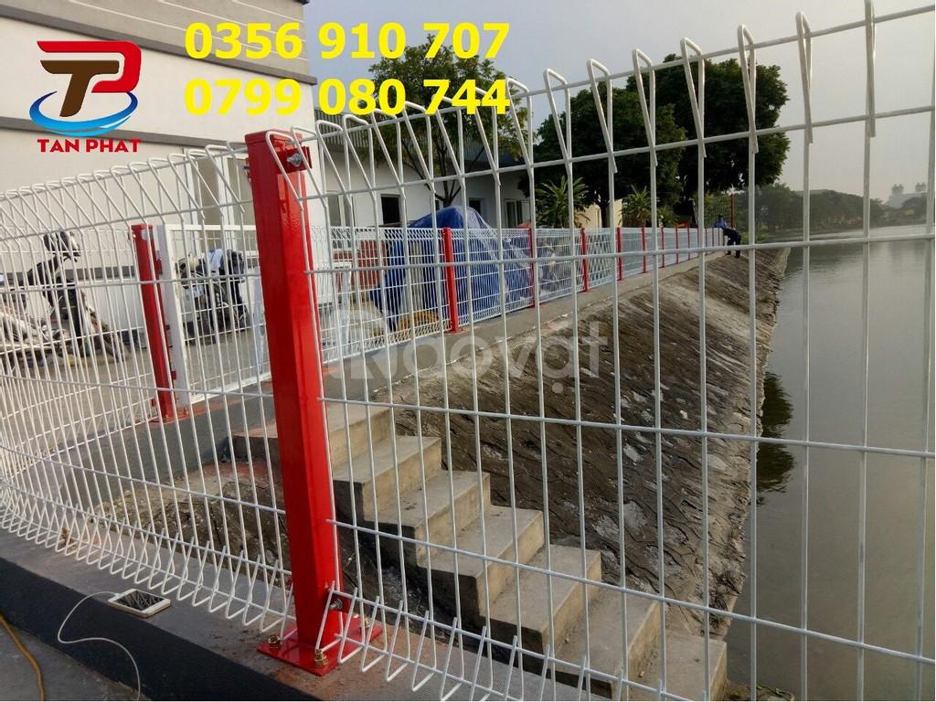 Hàng rào lưới thép hàn, hàng rào mạ nhúng nóng, hàng rào đẹp giá tốt