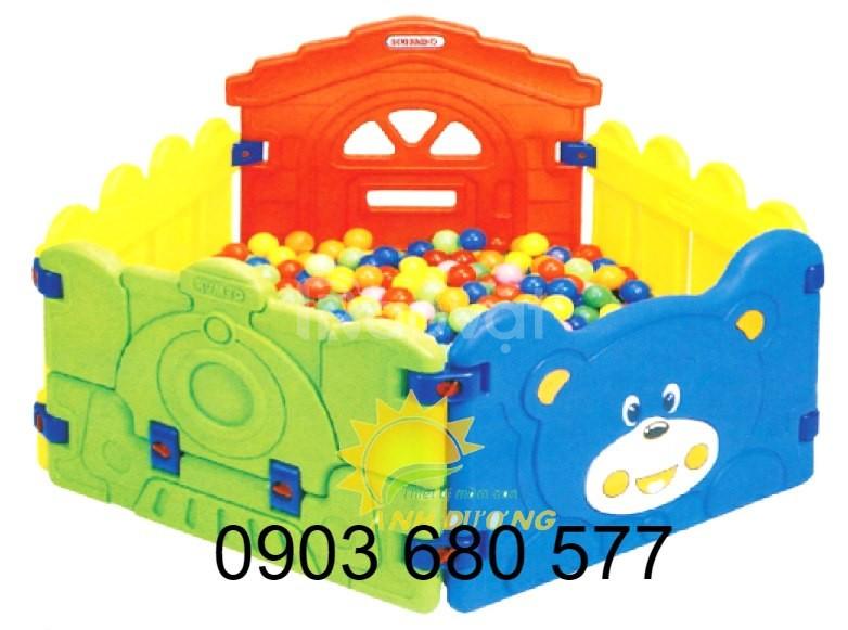 Nhà banh nhựa trong nhà cho bé giá rẻ, uy tín, chất lượng