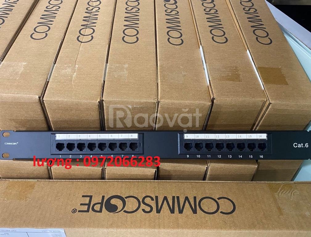 Thanh đấu nôi Patch panel Cat6 Commscope/Amp 16 port  | PN: 1375014-6