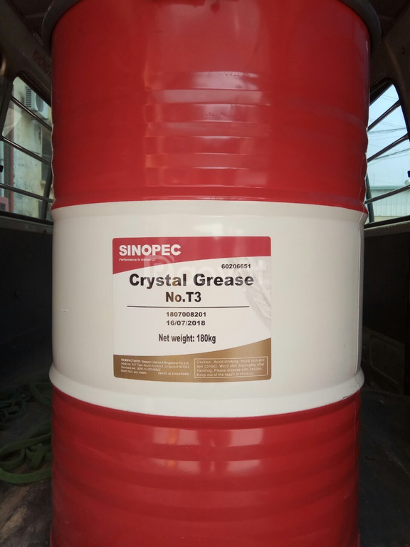 Mỡ chịu nhiệt Crystal Grease No.T3 phuy 180kg