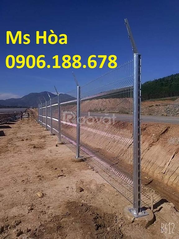 Hàng rào lưới thép mạ kẽm, sơn tĩnh điện, hàng rào chấn sóng, gập đầu