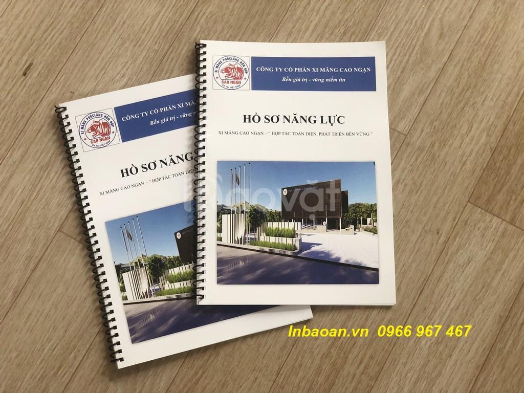 Thiết kế hồ sơ năng lực, in quyển hồ sơ năng lực, báo giá in hồ sơ