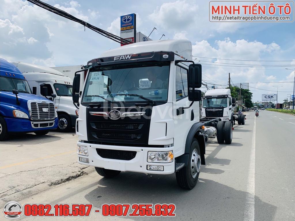 Gía xe tải FAW 8 tấn 4 thùng dài 8 mét chuyên chở hàng cồng kềnh