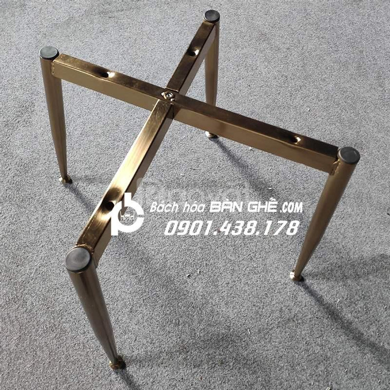 Ghế nệm bọc vải nhung chân mạ vàng GLM123 ghế cafe, ghế ăn
