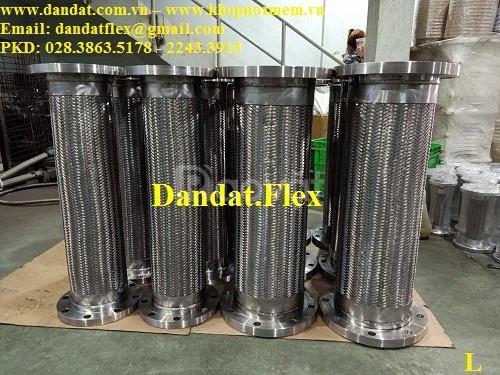 Ống nối mềm inox dn200, khớp nối mềm chống rung inox