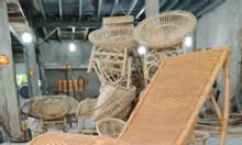 Ghế bập bênh thư giãn mây tre đan