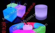 Bàn ghế led, quầy bar led phát sáng, bàn ghế nhựa led