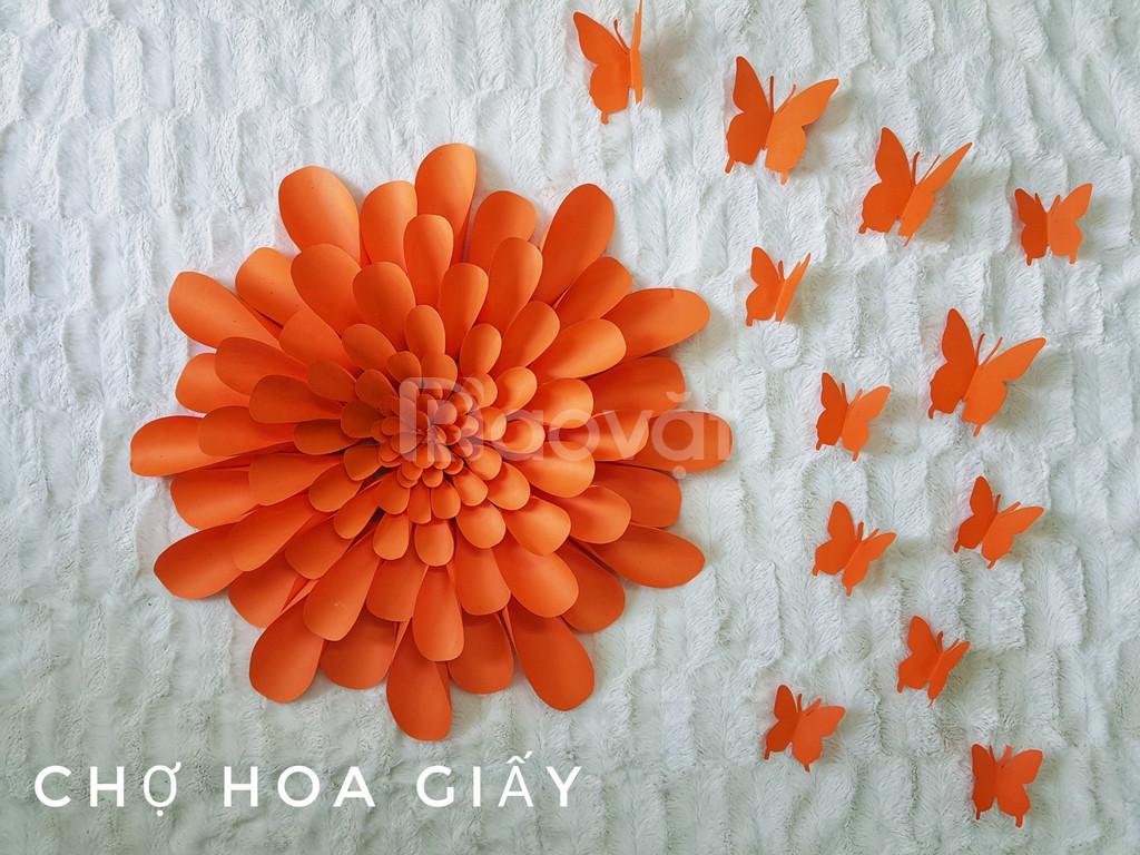 Hoa giấy trang trí tường Handmade