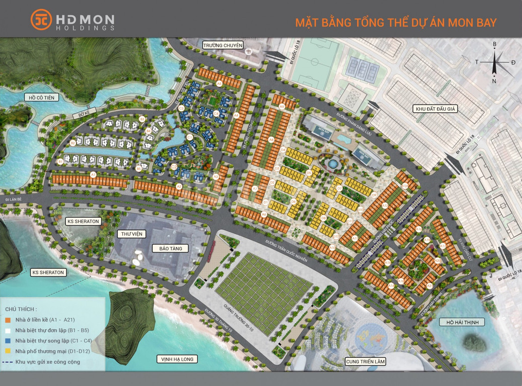 Cần bán 2 căn liền kề Mon Bay, hướng Đông Nam giá 13 tỷ