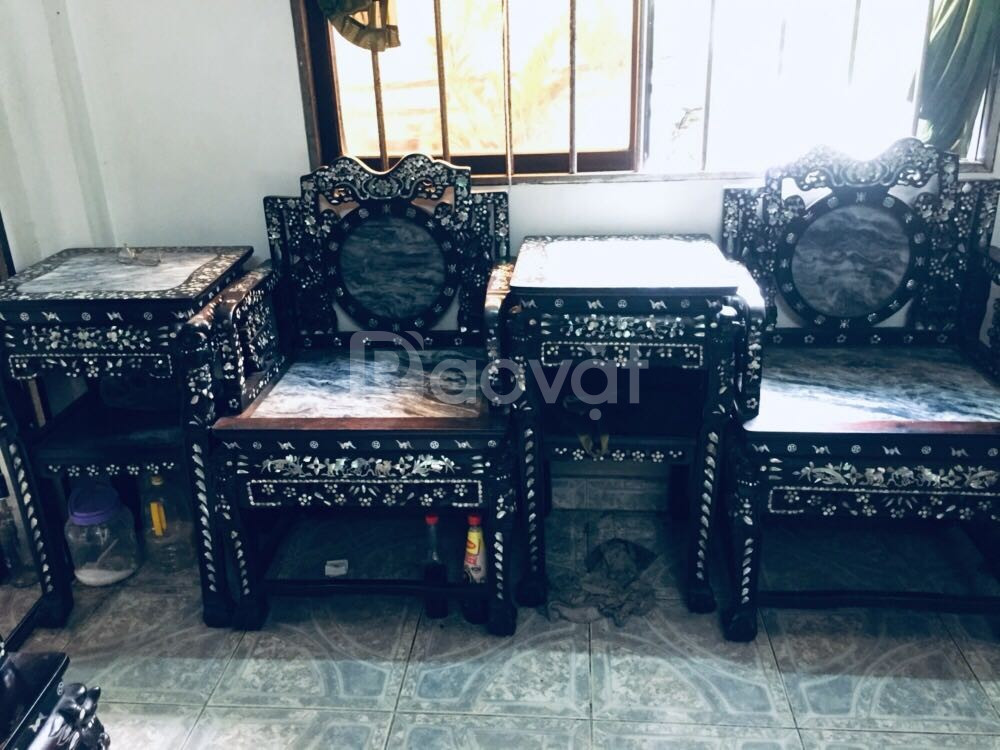 Bán bộ bàn ghế salon gỗ