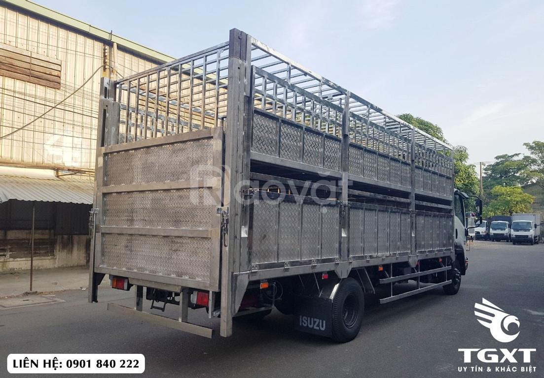 Xe tải Isuzu FRR650 thùng chở gia súc, trả trước 220tr nhận xe