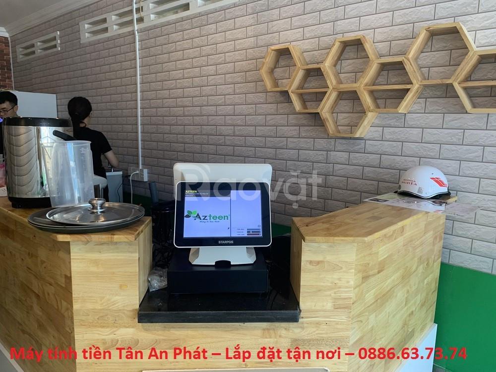 Máy tính tiền 2 màn hình cho quán trà chanh BMT giá rẻ