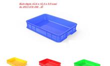 Sọt nhựa hở công nghiệp, sóng nhựa đặc hình chữ nhật 3T9 cao TPHCM