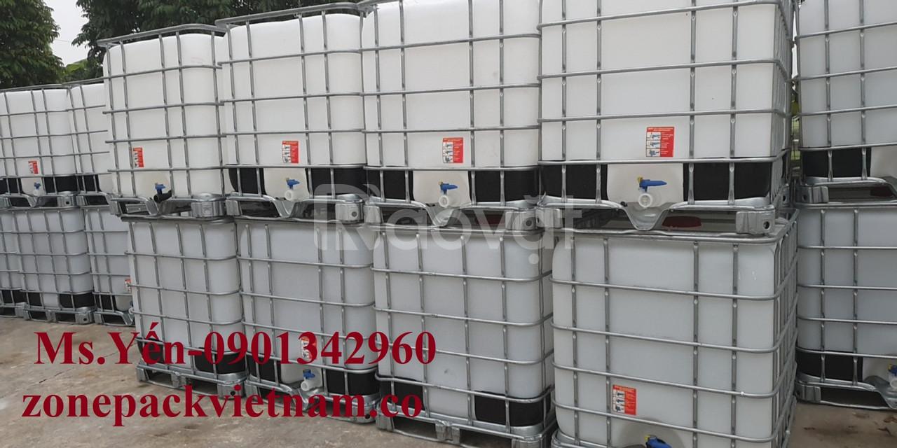 Tank ibc 1000l tái sử dụng, ibc 1000l tái sử dụng, thùng nhựa cũ