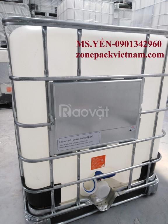 Tank nhựa IBC 1000L-COBO, thùng nhựa 1000l-COBO, tank ibc COBO