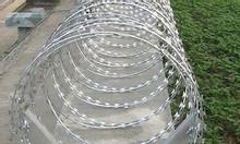 Dây thép gai, dây thép gai vong tròn cố đinh 35, 40, 50,60,80cm