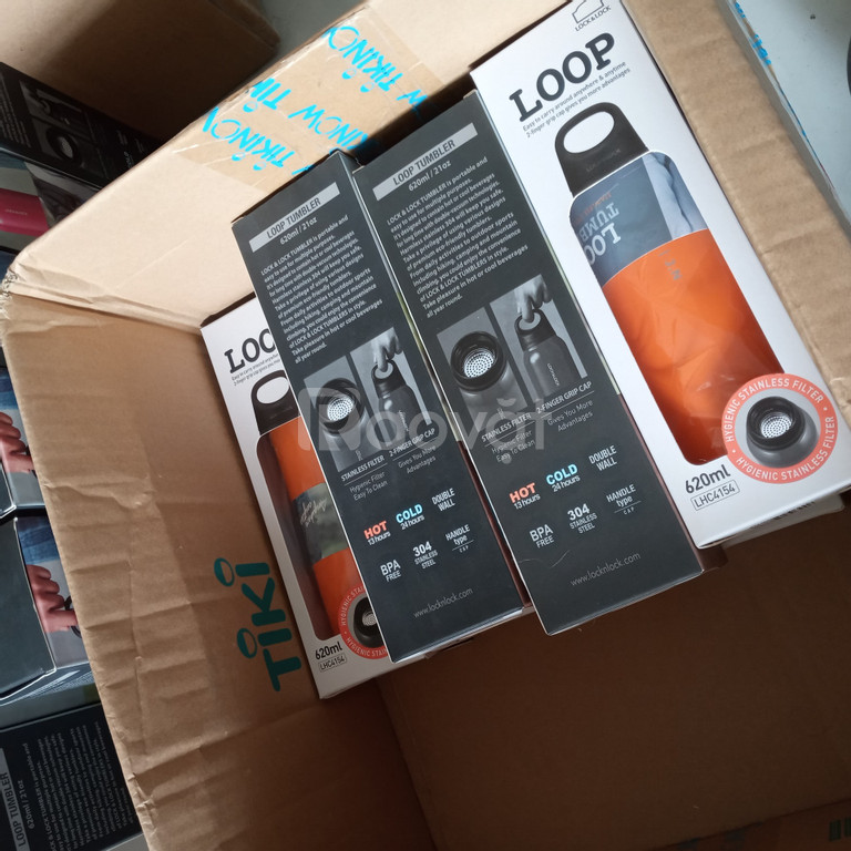 Đơn hàng bình giữ nhiệt locknlock loop tumbler khắc tên logo công ty
