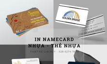 In namecard pvc nhựa TP HCM giá tốt