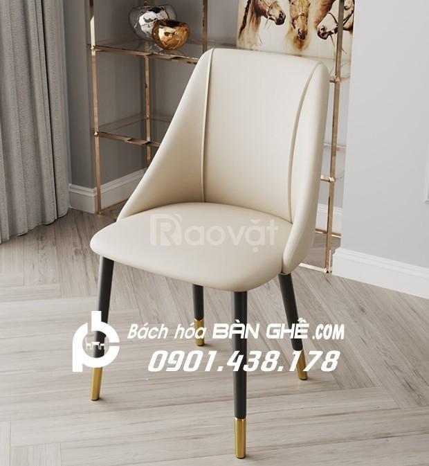Ghế nệm bọc da GLM121 ghế nệm cafe, ghế ăn, ghế trang điểm