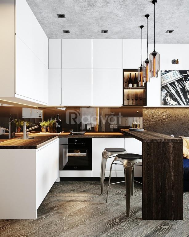 Tủ bếp công nghiệp giá rẻ hiện đại - thi công tủ bếp giá xưởng