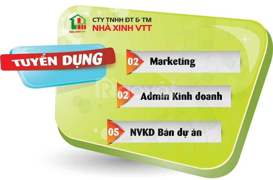 Công ty nhà xinh VTT tuyển dụng 5 NVKD bán dự án