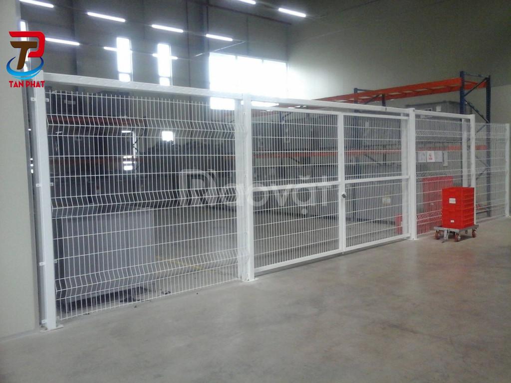 Sản xuất hàng rào lưới thép hàn, hàng rào vách ngăn kho xưởng