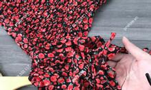 Set bộ đồ lụa cao cấp dún buộc nơ họa tiết hoa cúc - PN99890