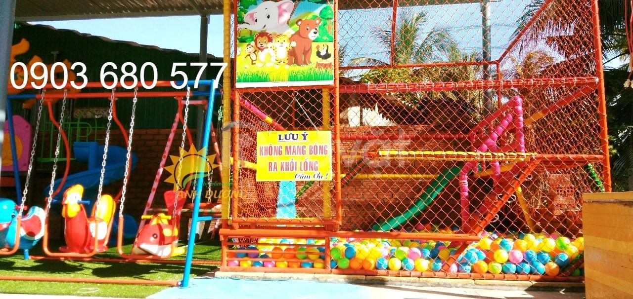Nhà banh ngoài trời chắc chắn cho trường mầm non, công viên, sân chơi