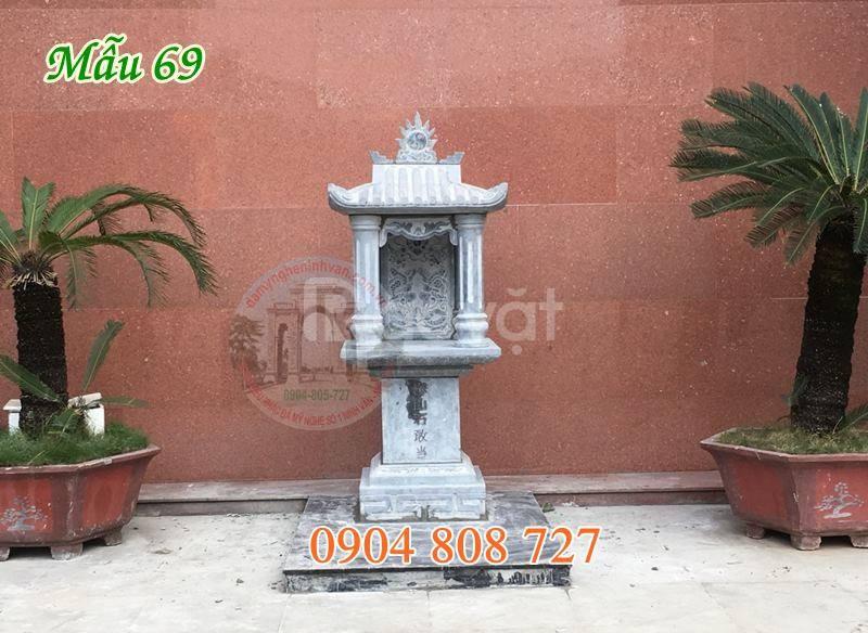 Mẫu cây hương thờ thần linh bằng đá đẹp 85