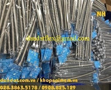 Dây nước nóng, ống mềm dẫn nước inox, dây dẫn nước inox 304, dân đạt