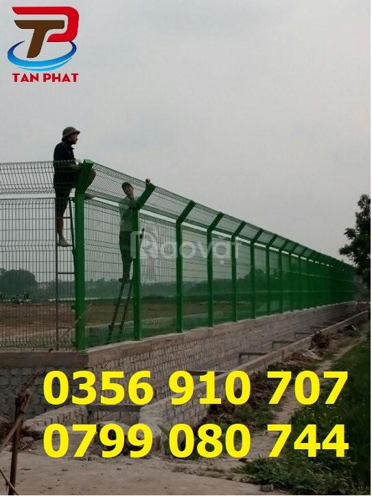 Hàng rào lưới thép chắn sóng, hàng rào gập đầu, hàng rào kho
