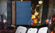 Nơi chuyên làm bìa menu, nhận làm cuốn menu, làm bìa menu da, bìa menu