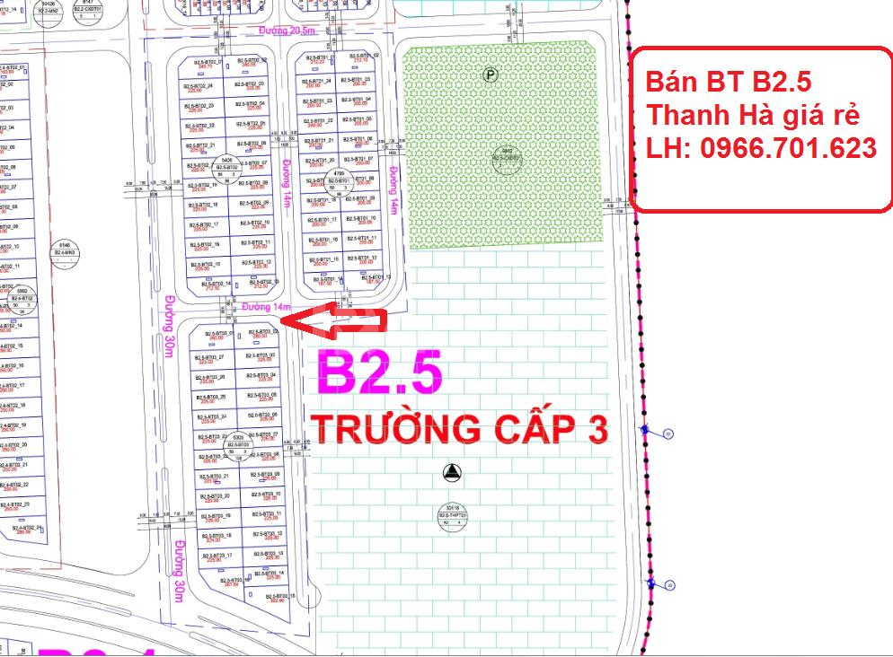 Bán biệt thự B2.5 KĐT Thanh Hà Mường Thanh, Hà Đông, Hà Nội giá rẻ