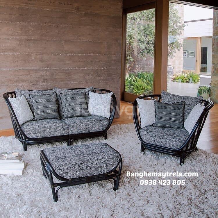 Bàn ghế mây tre tự nhiên phòng khách