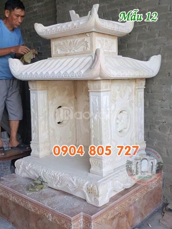 Mẫu cây hương thờ thần linh bằng đá đẹp 69