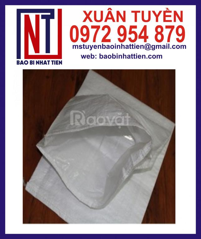Bao PP dệt trắng đựng nước đá 20kg đến 25kg
