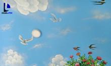 Tư vấn vẽ tranh trần mây giá rẻ tại Hà Nội