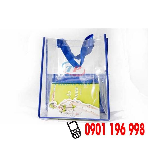 Địa chỉ may túi nhựa PVC thời trang, túi nhựa trong suốt giá rẻ