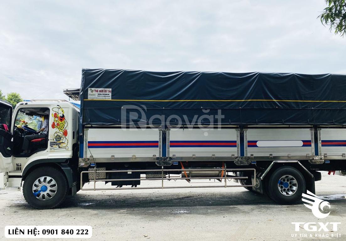 Xe tải Hino FG thùng bạt, xe ra tải 8 tấn, thùng 7m4 và 8m8