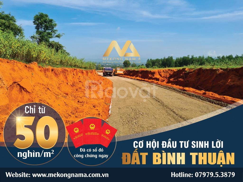 Đất nền Bình Thuận từ 50.000đ/m2, pháp lý rõ ràng, tiềm năng lớn
