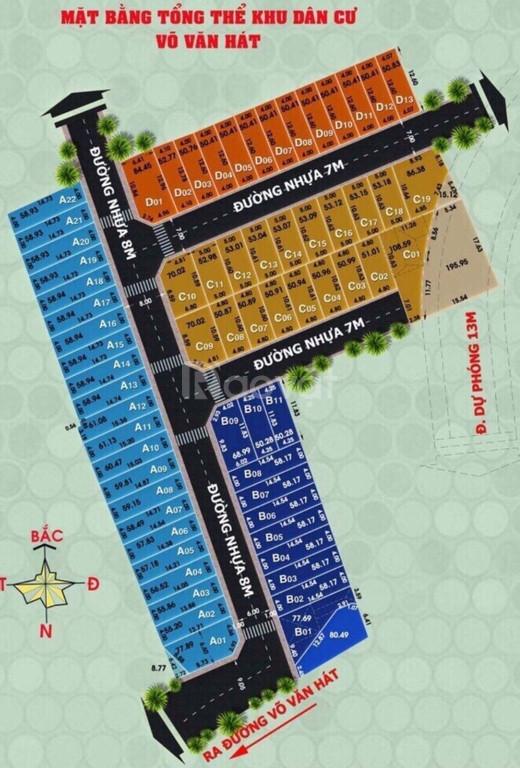 Đất khu dân cư hiện hữu, hẻm 218 Võ Văn Hát, sổ hồng riêng