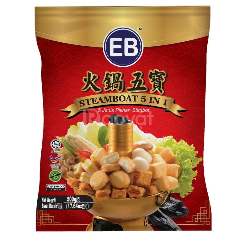 Combo viên thả lẩu Malaysia 5 trong 1 nhãn EB