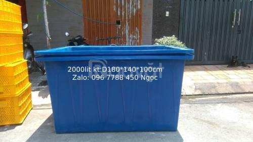 Thùng nhựa lớn 2000 lít nuôi cá