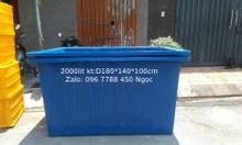 Thùng nhựa lớn nuôi cá 750 lít, 1000 lít, 1100 lít, 2000 lít giá sỉ